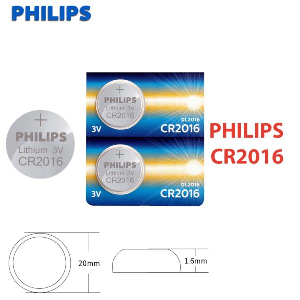 1x Pila de boton PHILIPS bateria original Litio CR2016 3V