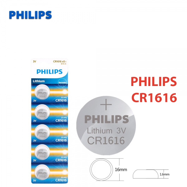1x Pila de boton PHILIPS bateria original Litio CR1616 3V