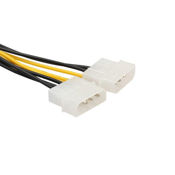 Cable de Alimentacion Tarjeta Gráfica 8 Pines (6+2) PCI Express PCIe a Doble Molex 18cm