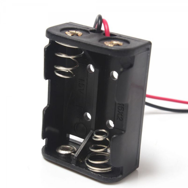 PORTAPILAS 2x 12V23A  con cable alimentacion PCB battery holder