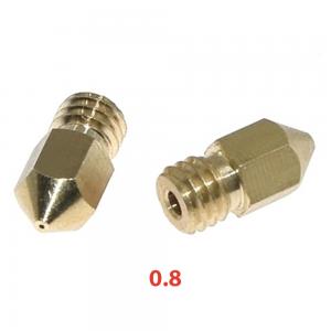 Boquilla Extrusora MK8 0.8mm 1.75mm Reprap Makerbot 3d