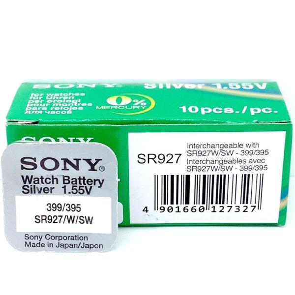 1x Pila Boton SONY Original 395 (sr927sw) 1,55V