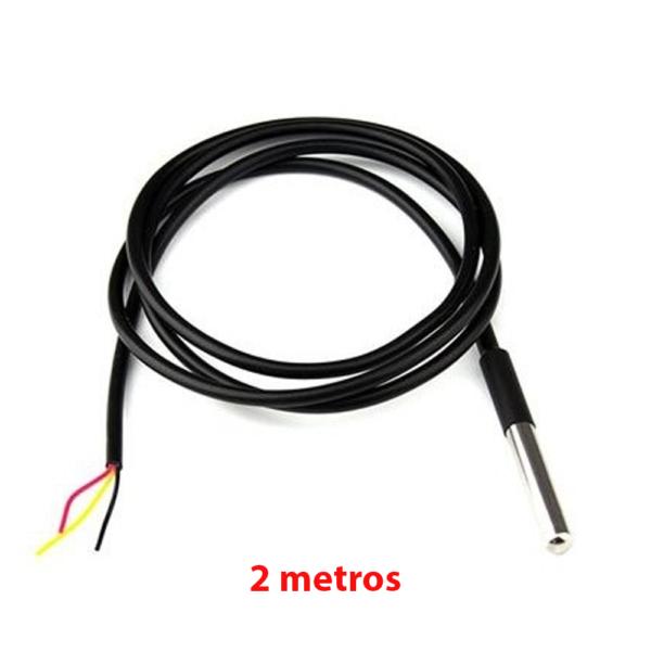 SENSOR DS18B20 TEMPERATURA PARA LIQUIDOS SUMERGIBLE 2 METROS