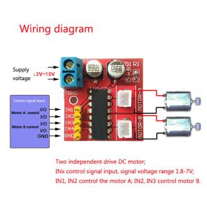 Modulo controlador motor CC doble canal 2.5A Superior a L298N PWM