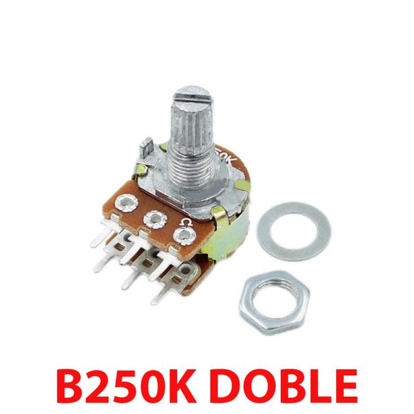 Potenciometro B250K lineal doble 250k OHM kΩ