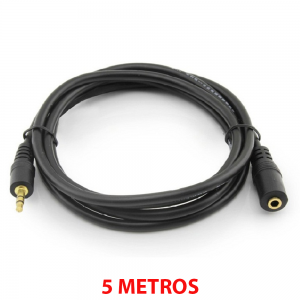 CABLE ALARGADOR AUDIO JACK 3,5mm (macho - hembra)  AURICULARES 5m REF2030
