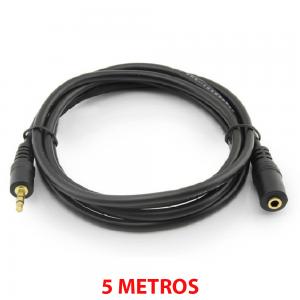 CABLE ALARGADOR AUDIO JACK 3,5mm (macho - hembra) AURICULARES 5m REF2030