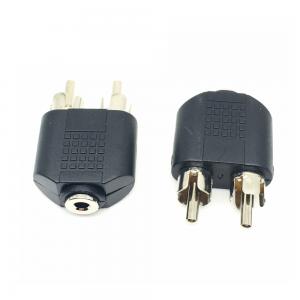 Conector adaptador JACK TRS 3,5mm HEMBRA ESTEREO a 2 RCA MACHO REF2037