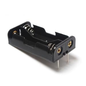 Portapilas 2xAA 3V R06 con contactos para soldar P007