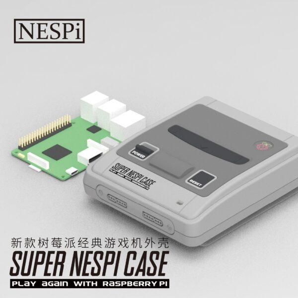 Caja Carcasa Case Box Super Nintendo SUPERPi SNESPI RASPBERRY