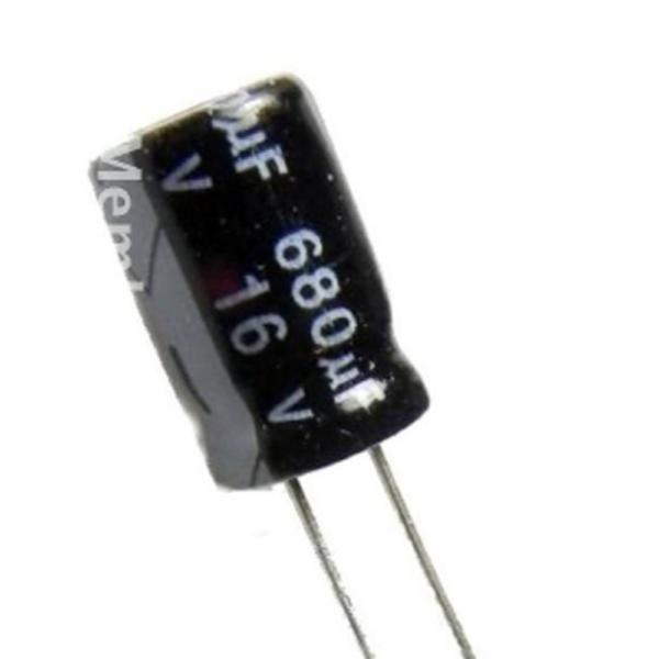 10x CONDENSADOR ELECTROLITICO 680uF 16v 105º C