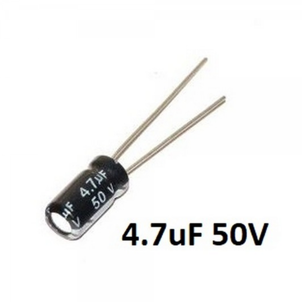 10x CONDENSADOR ELECTROLITICO 4,7uF 50v 105º C