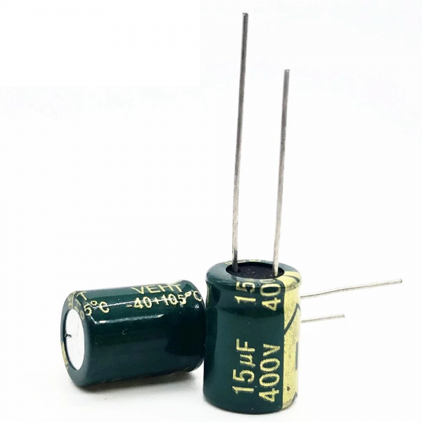 5x CONDENSADOR ELECTROLITICO 15uF 400v 105º C 10x17 MM