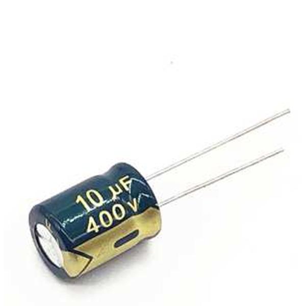 5x CONDENSADOR ELECTROLITICO 10uF 400v LOW ESR 105º C 10x17 MM