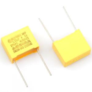 2x Condensador de seguridad MKP X2 0.33uF 334K AC 275V 22.5mm