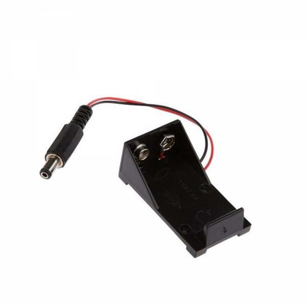 Portapilas pila 9V Conector DC P031