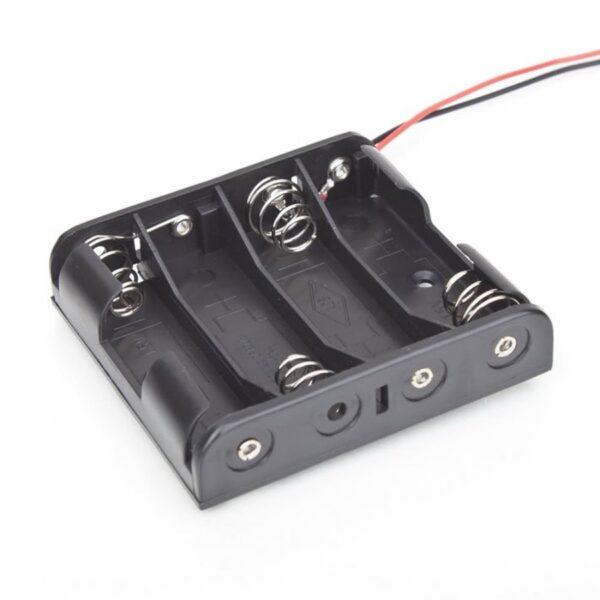 Portapilas 4x AA 6v con cable
