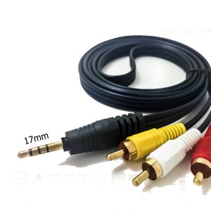 CABLE 3X RCA A JACK LARGO (17mm)  3.5MM AUDIO VIDEO