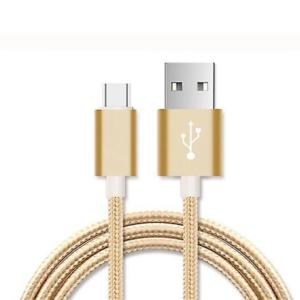 CABLE MICRO USB ALUMINIO TRENZADO NAYLON ORO 1M