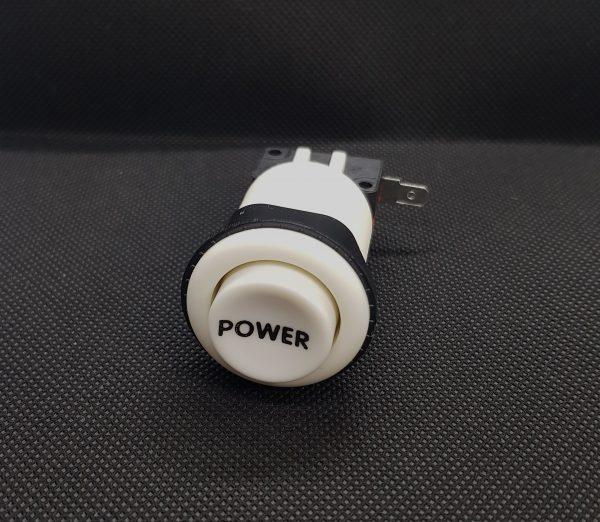 PULSADOR ARCADE 33MM BLANCO POWER CONCAVO