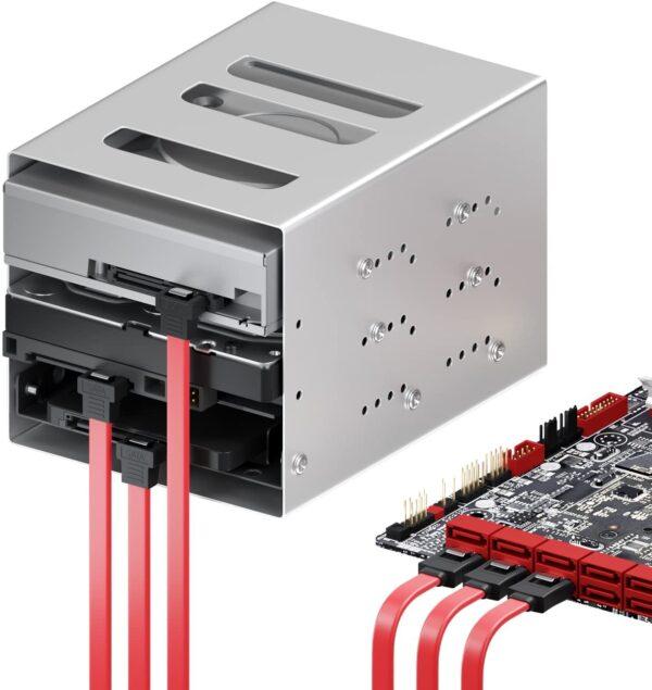 Cable de datos HDD SATA 3.0 6 Gbp/s ACODADO 90º 40 cm ROJO REF2075