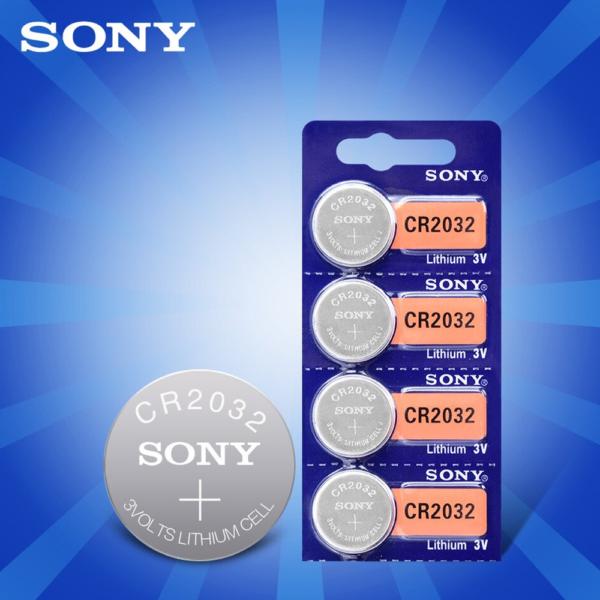 1x Pila de boton SONY bateria original Litio CR2032 3V