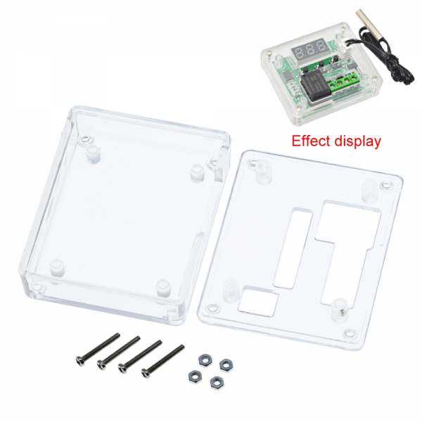 Caja Carcasa ABS transparente Termostato W1209 DC 12V controlador temperatura