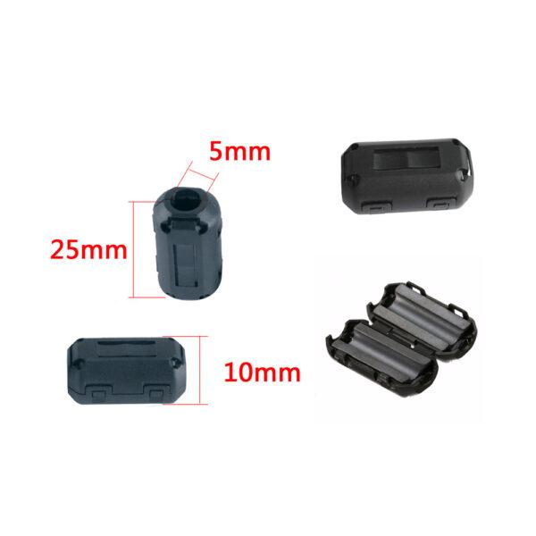 Anillo de ferrita con clip filtro interferencias magneticas 5MM